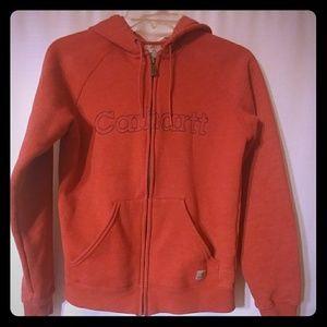 Women's Carhartt Jacket Zip Up Hoodie XS